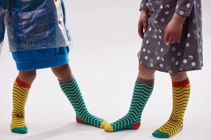 Original combo of socks by Indikidual for autumn-winter 2014