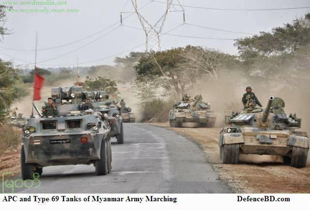 Type 69 Tanks of Myanmar Army