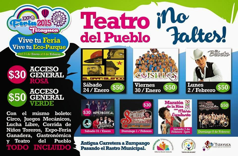 Cartelera Feria Tizayuca 2015