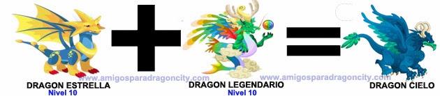 como sacar el dragon cielo en dragon city combinacion 1