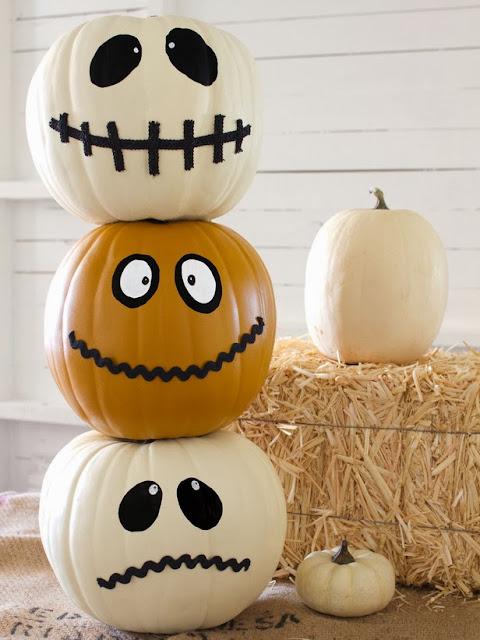 Halloween Jack-O-Totem- calabaza decoración fiesta DIY