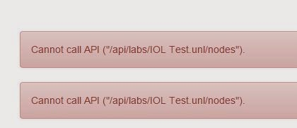 UNetLab cannot call API