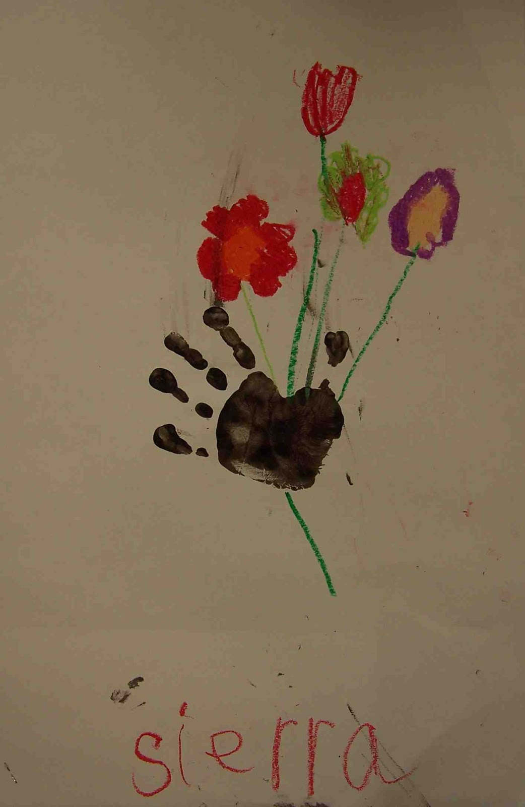 create art with mrs  p   kinder picasso  u0026quot hand with bouquet u0026quot