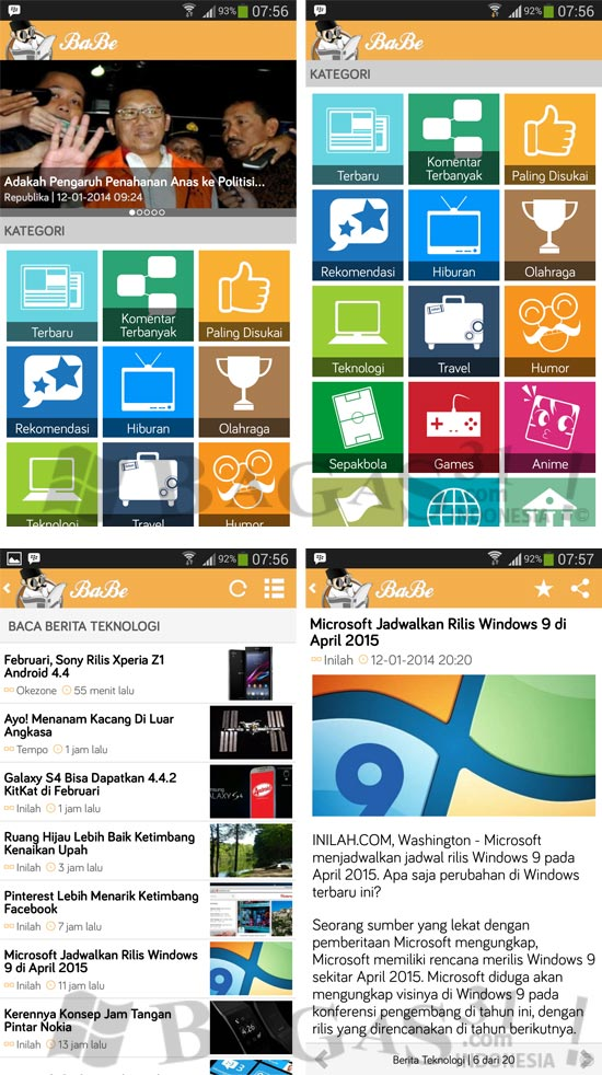BaBe - Baca Berita Indonesia for Android 2