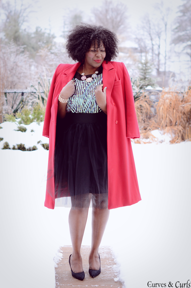 How to wear a tulle skirt -more on mycurvesandcurls.com