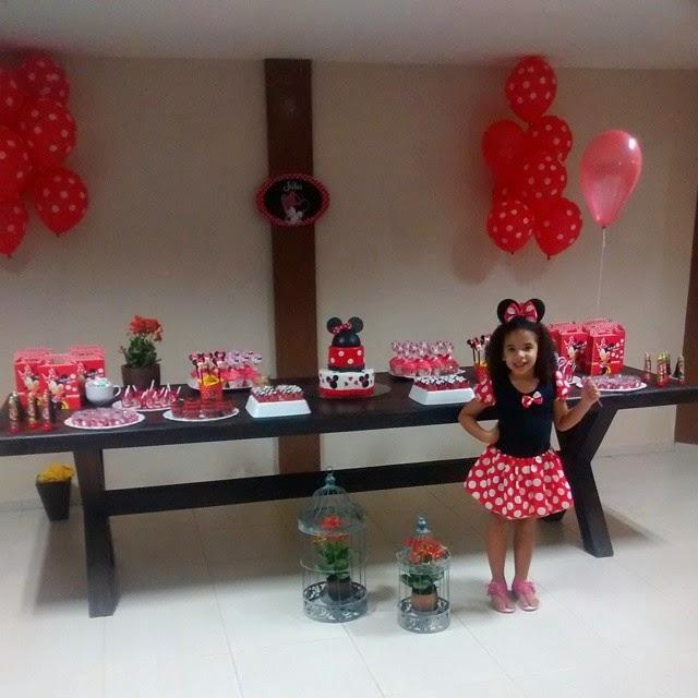 Felipe Ideias de decoraç u00e3o para festa infantil, bonita, simples e barata Tema Minnie # Decoraçao De Festa Da Minnie Vermelha Simples