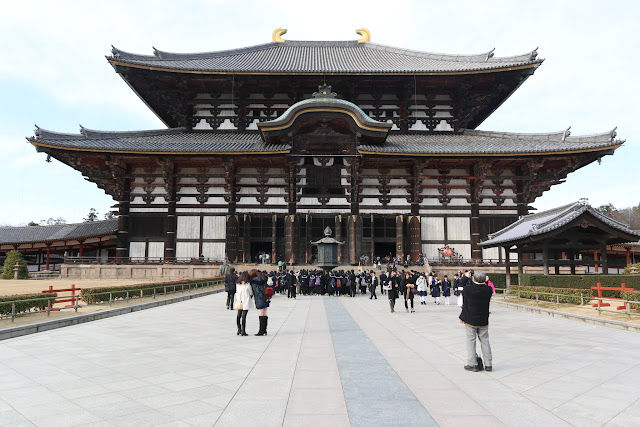 Todai-ji Temple  is a most famous Buddhism temple and the roofing looks similar to Japanese Samurai Helmet at Nara Park, Japan