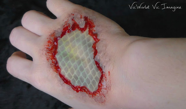 Sangre,rojo,herida,reptil,lagarto,serpiente,caracterización,hurt, blood,lizard