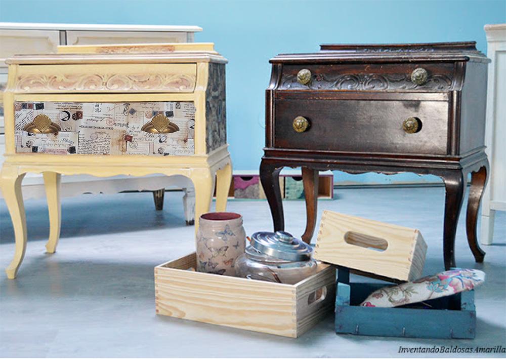 Reciclando una caja de vinos handbox craft lovers - Mesillas vintage ...