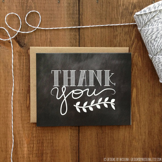 Thank You For Wedding Gift But Didnot Attend : You can chalkboard paint anything now, so why not the thank you notes ...