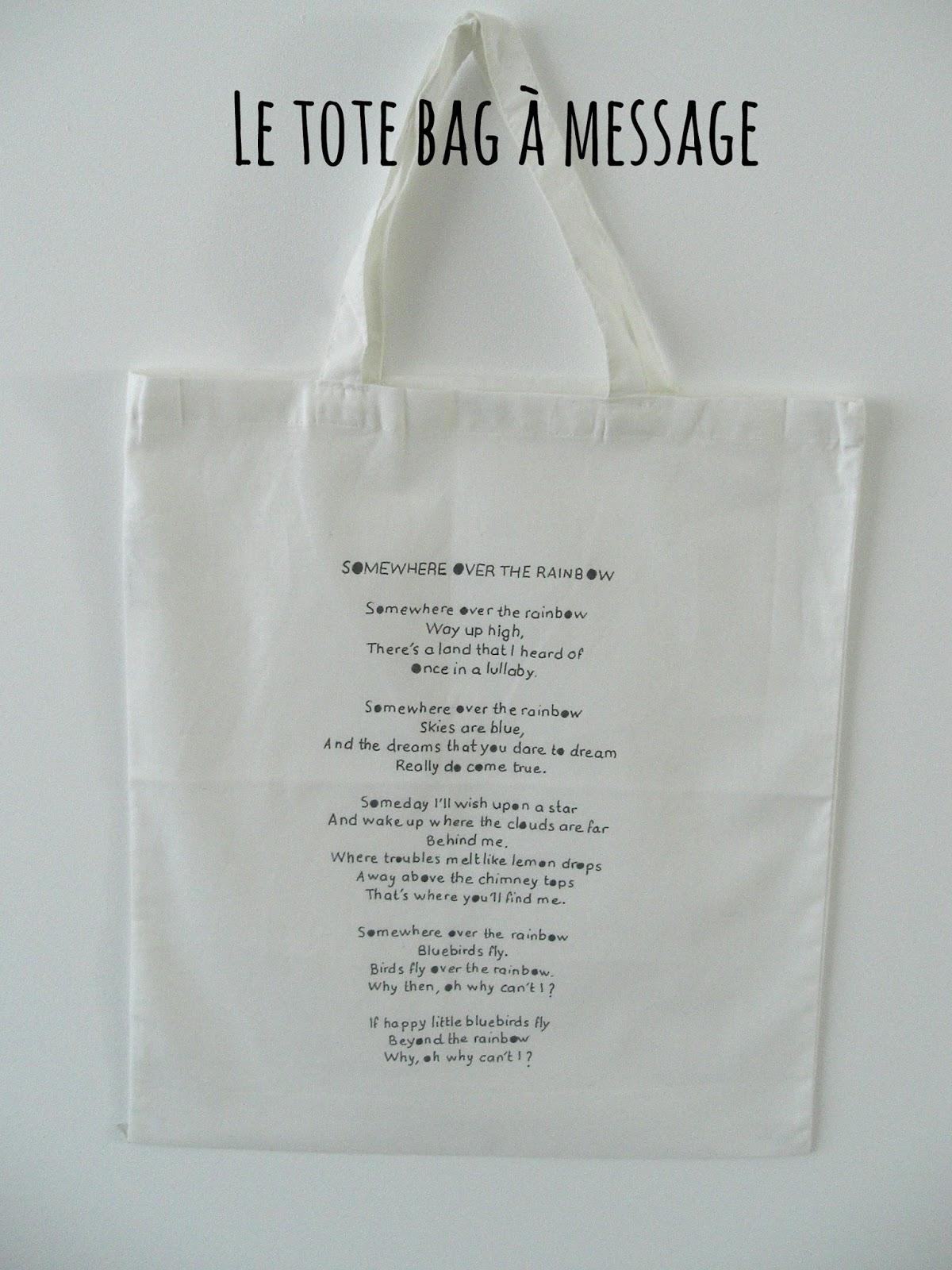 gabulle in wonderland un tote bag message. Black Bedroom Furniture Sets. Home Design Ideas