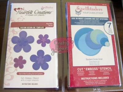 Heartfelt Creations Spellbinders die set - Posy Patch, Spellbinders Nestabilities die set - Standard Small Circle