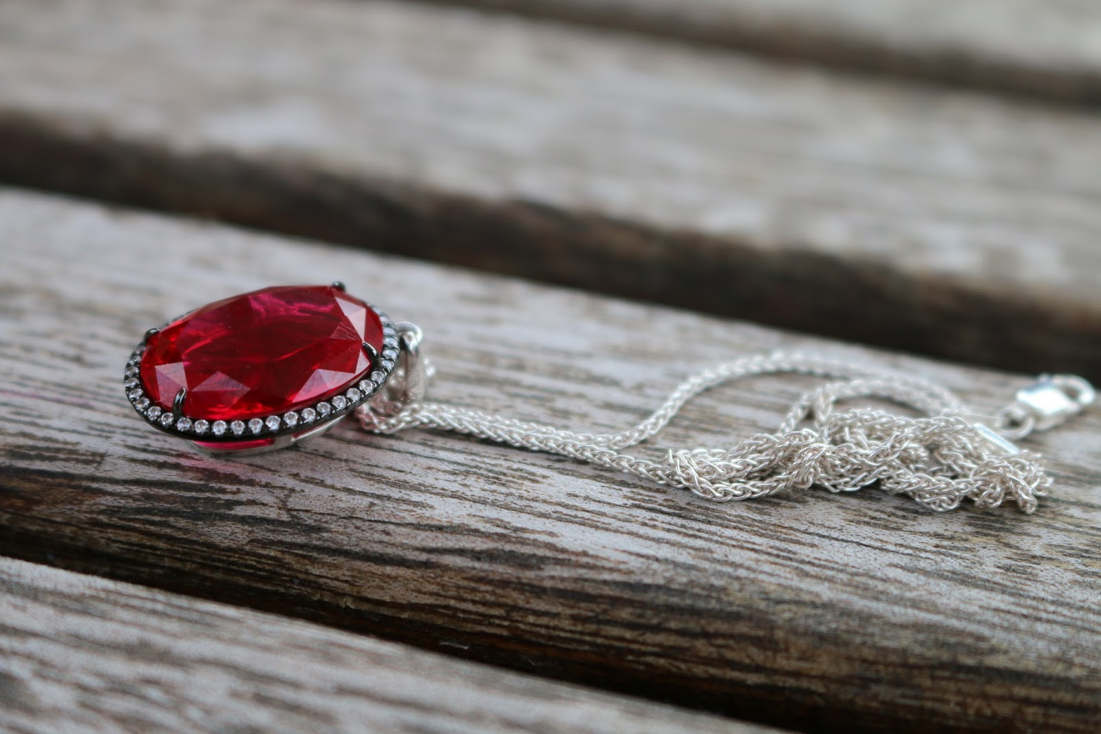 Lauryn Rose Sparkling Creative Ruby Oval Pendant, she might be loved