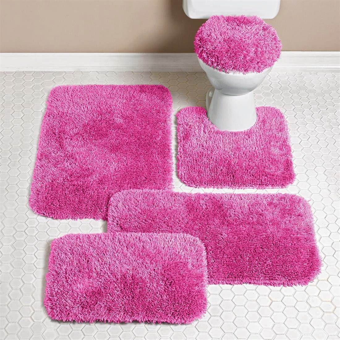 Pink ideas bath rugs
