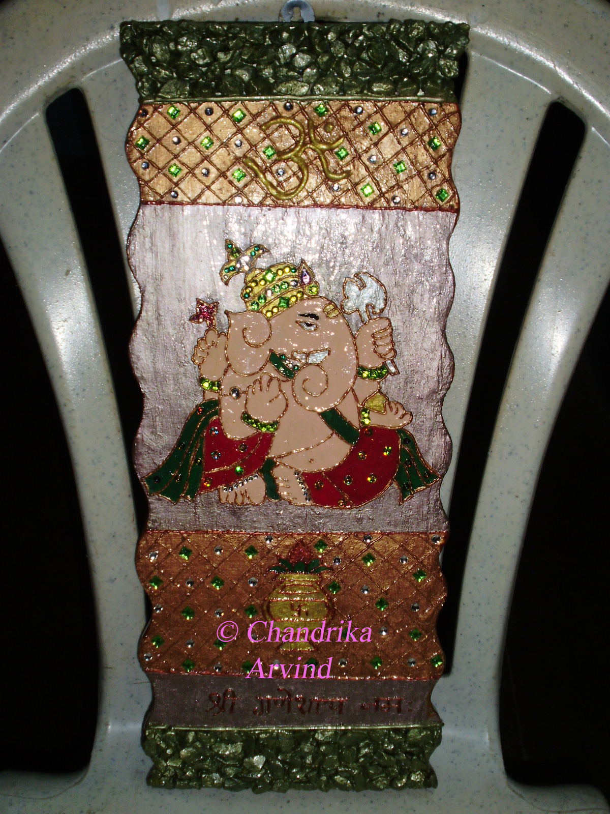 Mayur arts crafts ganesh mural for Arts and crafts mural