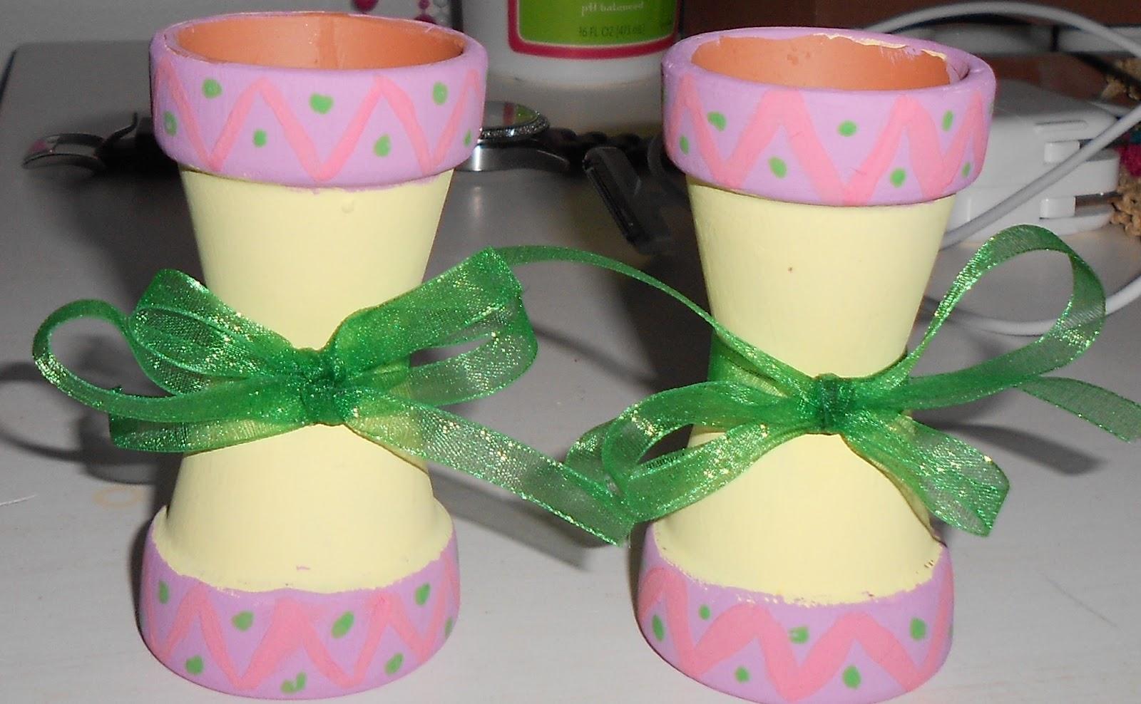 DIY: Easter Candle Holders--ft. Terra Cotta Pots