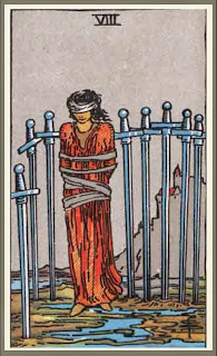 eight of swords Rider Waite Tarot