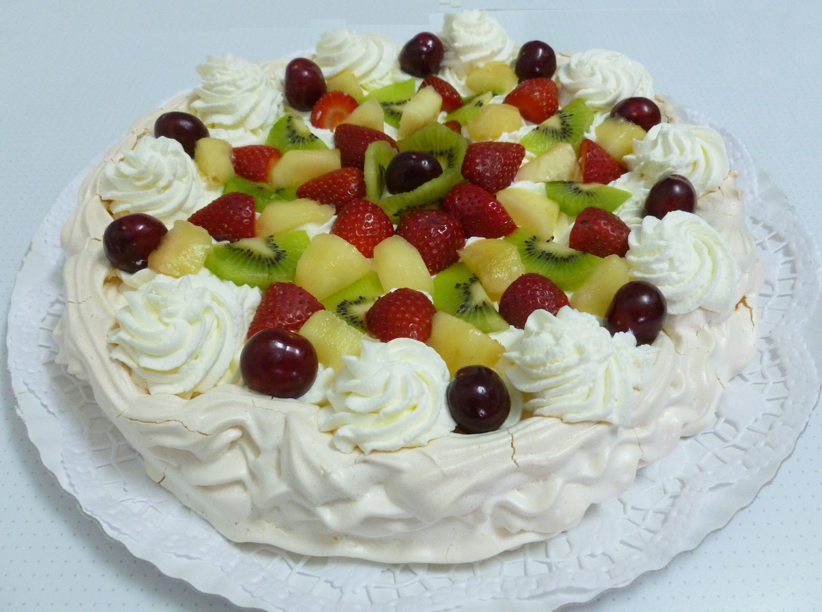 Baño Blanco Rosquillas:Mi pastelería: Tarta Pavlova