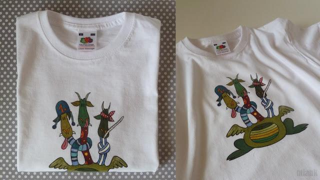 drak - malované tričko