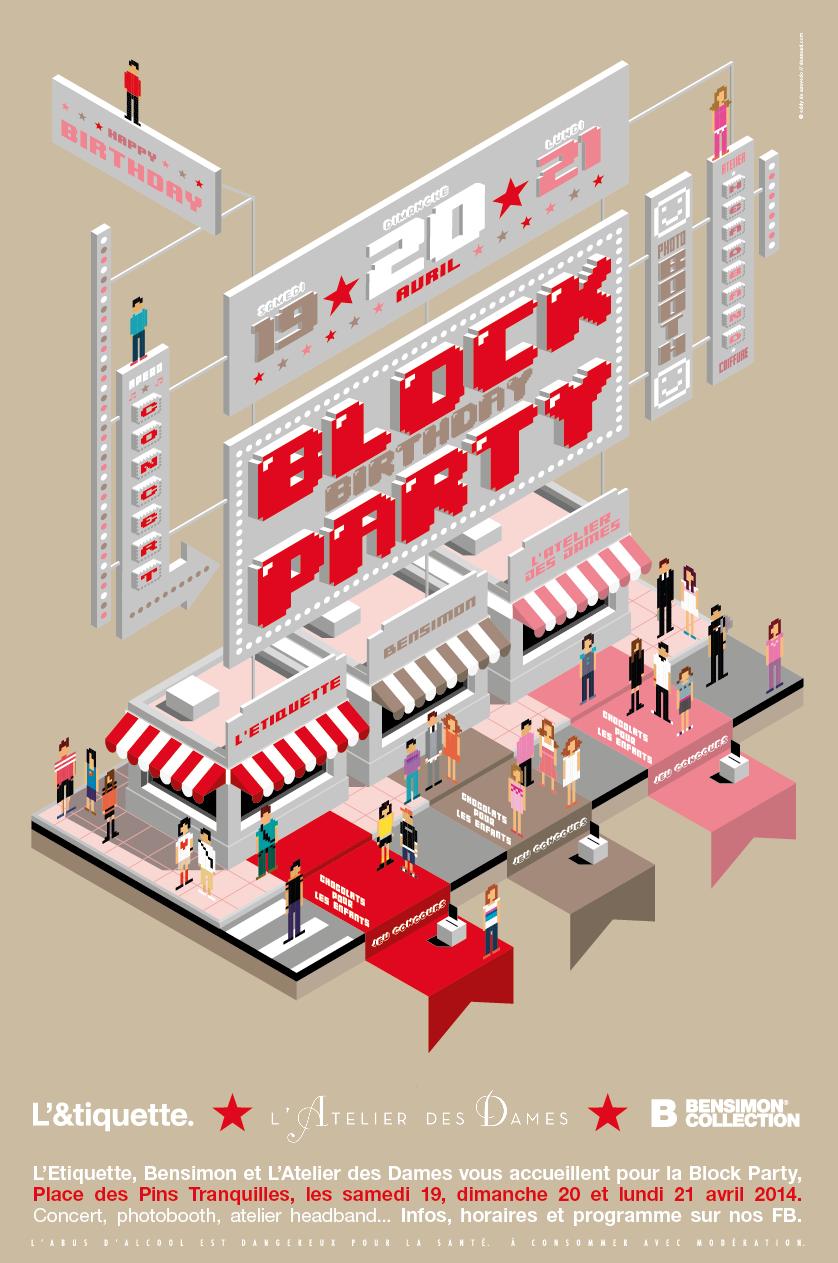 bensimon, bensimon hossegor, hossegor, block party, l'&tiquette,l'atelier des dames, anniversaire