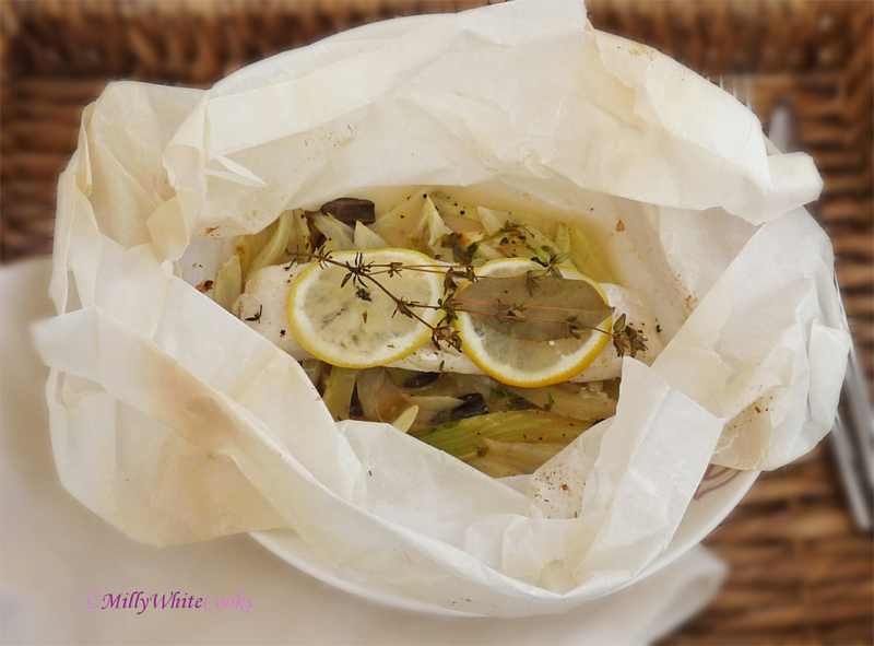 Garlic & Herb Roasted Cod with Fennel En Papillote