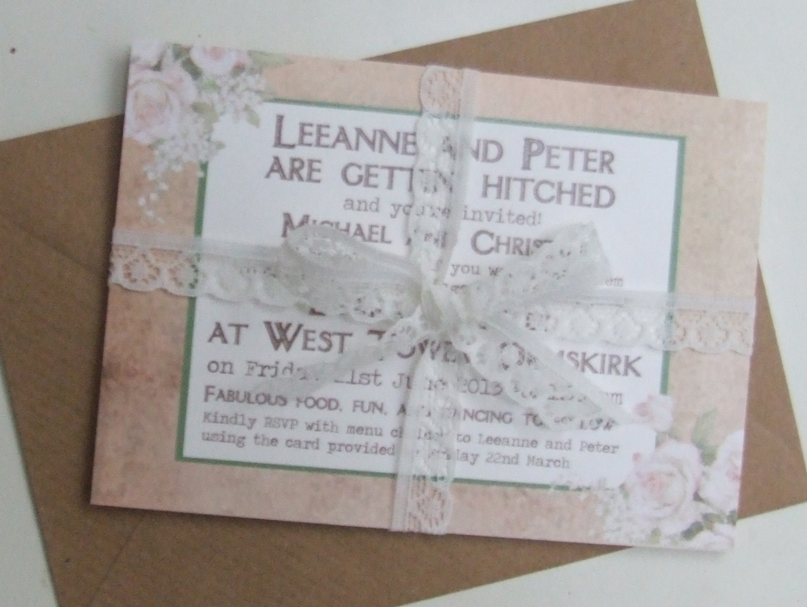 Vintage Postcard Style Wedding Invitations & Inspiration - Knots ...