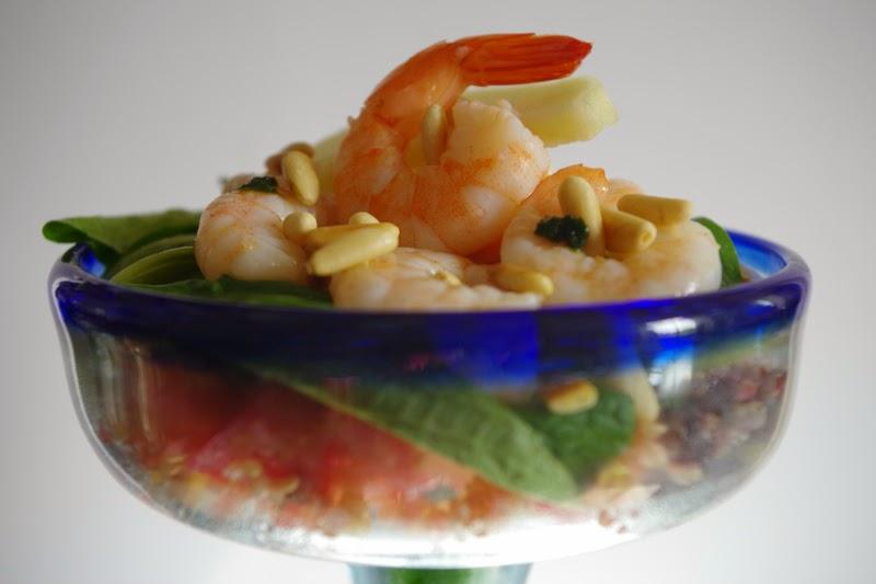salade quinoa crevettes