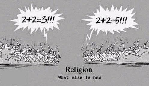 religion inconsistency war