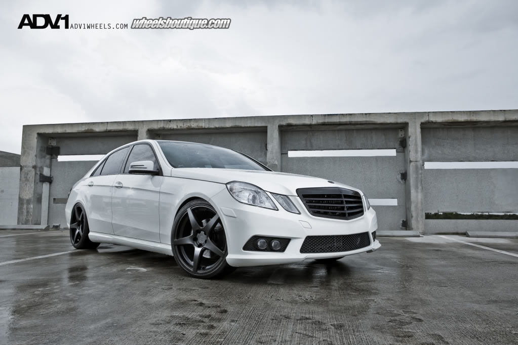 mercedes benz e class w212 on adv wheels benztuning