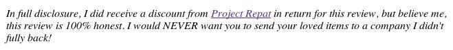 Project Repat Disclosure