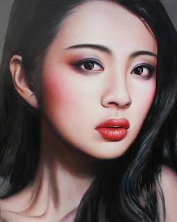 Rostros Urbanos de Chicas Chinas en Pintura