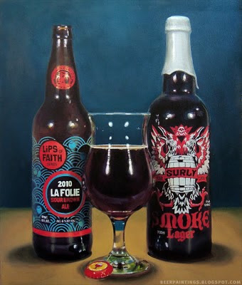 New Belgium La Folie and Surly Smoke beer painting