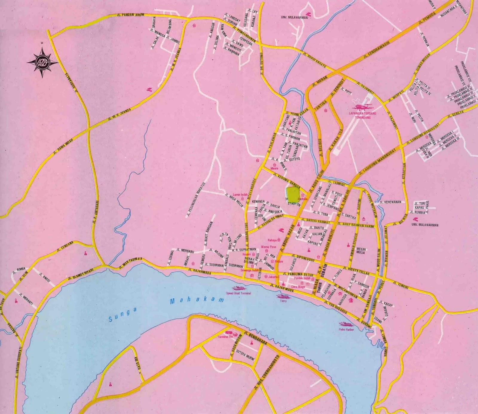 Peta Kota: Peta Kota Samarinda