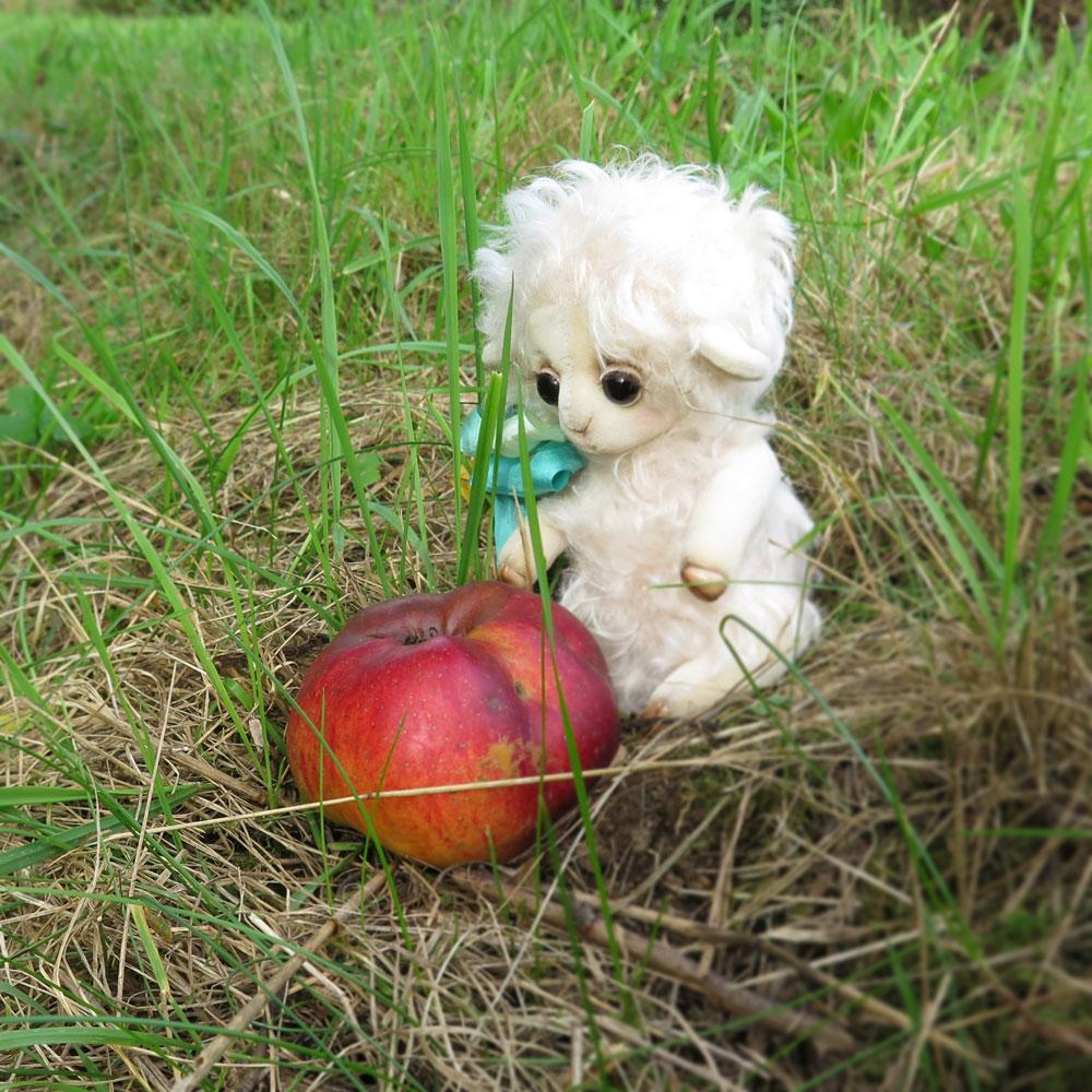 Овечка и яблоко