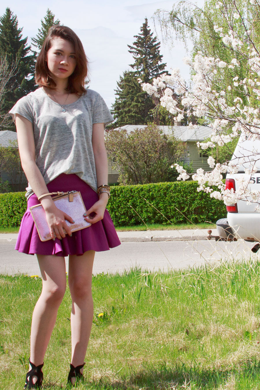 Joie, Asos, scuba skirt, Coach, Michael Kors, Juicy Couture, Swarovski, spring, summer, Zara