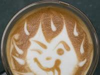 Obras de arte no café
