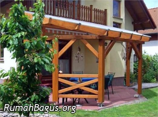 gambar teras kayu