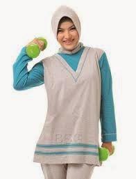 Model Fashion Baju Muslim Senam Wanita Terbaru 2015