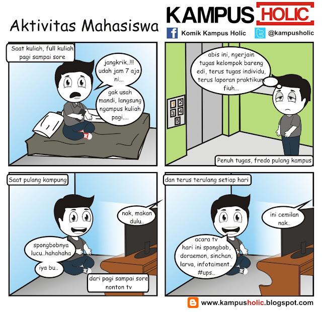 #155 komik Aktivitas Mahasiswa kampus holic