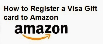 How to Register a Visa Gift card to Amazon : eAskme