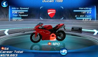 Ducati 1198 on Asphalt 6: Adrenaline HD Android Games