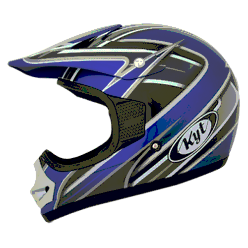 helm kyt cross pro junior blue/black/silver