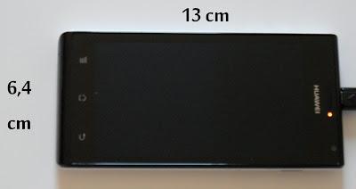 Tamaño del Huawei Ascend P1