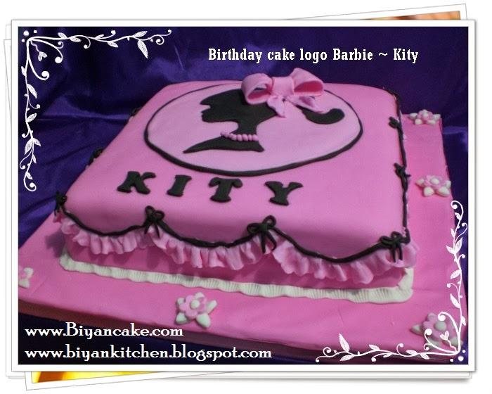 Kue ulang tahun Logo Barbie ~ Kity