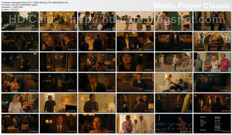 Midnight in Paris 2011 video thumbnails