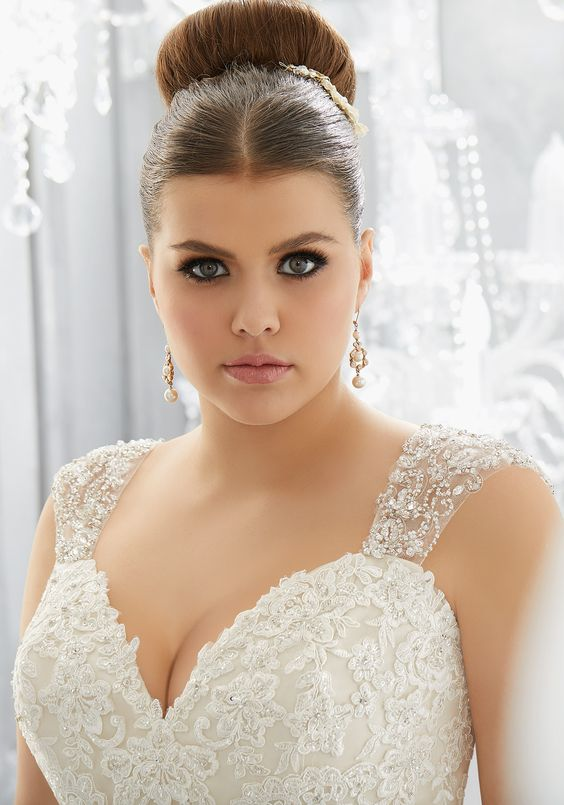 Peinado ideal para novia gordita