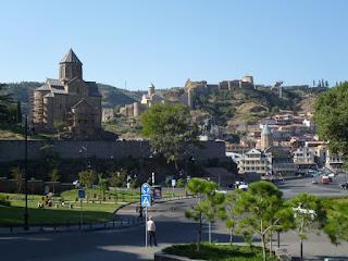 Vista general del centro de Tbilisi