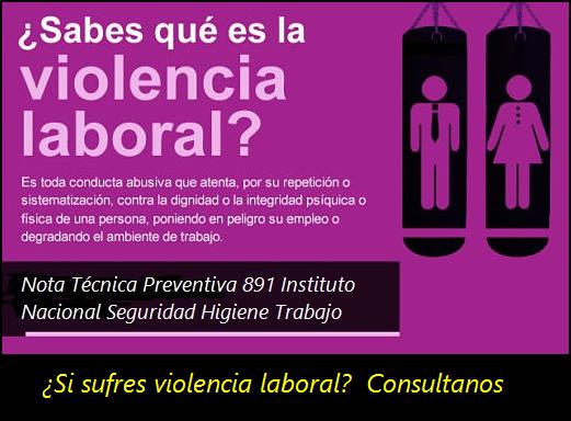 MobbingMadrid Procedimiento de solución de los conflictos de violencia laboral (I) NTP 891