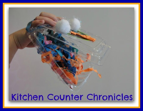photo of: Monster Puppet with Upcycled Materials from Kitchen Counter Chronicle (via Monster RoundUP by RainbowsWithinReach)