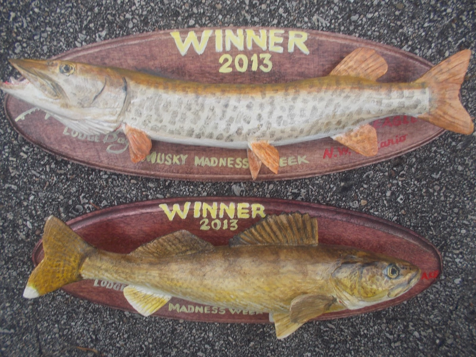 Charles weiss art hand carved fish trophies for vermilion